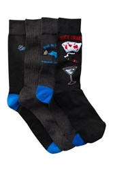 Tommy Bahama Fin And Tonic Crew Socks Pack Of 4 Multi