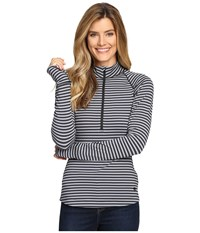 Mountain Hardwear Butterlicious Stripe Long Sleeve 1 2 Zip Black Black Women's Long Sleeve Pullover