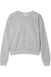Re Done 50S French Cotton Blend Terry Sweatshirt Light Gray