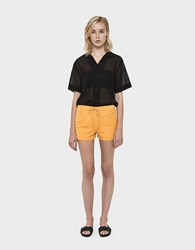 Which We Want Mili Casual Ribbed Shorts Goldenrod