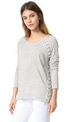 Generation Love Ridge Lace Up Top Grey