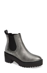 Linea Paolo Tate Platform Chelsea Boot Pewter Leather