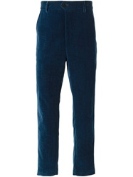 Societe Anonyme 'Georges' Velvet Trousers Blue