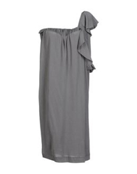 Nude Knee Length Dresses Grey