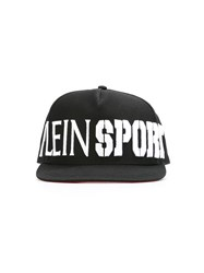 Plein Sport Logo Embroidered Baseball Cap Black