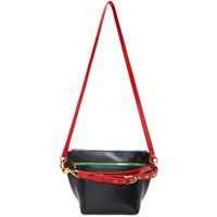 Sacai Navy And Red Trapezoid Bag