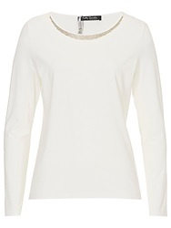 Betty Barclay Embellished Neck Top Off White