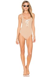 Marysia Palm Springs Tie One Piece Brown