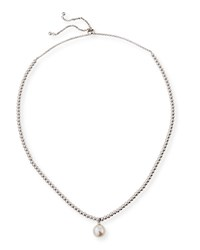 Majorica Adjustable Necklace W Beading And Manmade Pearl