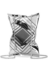 Anya Hindmarch Silver Tone Shoulder Bag One Size
