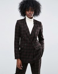 Asos Check Mansy Suit Jacket Check Multi