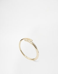 Orelia Clean Wrap And Stone Ring Crystal