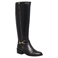 Carvela Waffle Leather Horsebit Trim Knee Boots
