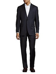 Lauren Ralph Lauren Classic Fit Windowpane Wool Suit Dark Blue