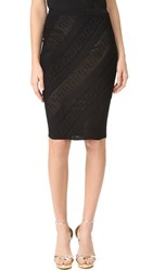 Versace Knee Length Skirt Black