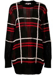 Mcq By Alexander Mcqueen Oversized Plaid Sweater Black