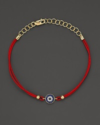 Meira T Diamond Blue Sapphire And 14K Yellow Gold Evil Eye Bracelet No Color