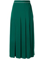 Twin Set Pleated Midi Skirt Green