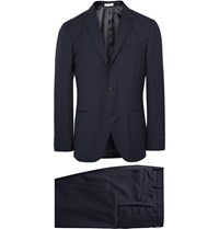 Boglioli Blue Dover Slim Fit Virgin Wool Suit Blue