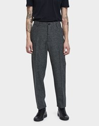 Margaret Howell Narrow Wool Trouser Charcoal Black