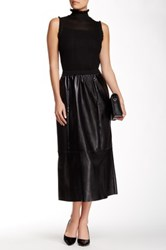 Insight Faux Leather Boot Skirt Black