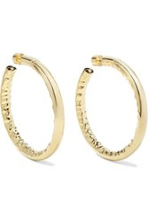 Jennifer Fisher 2 Gold Plated Hoop Earrings One Size