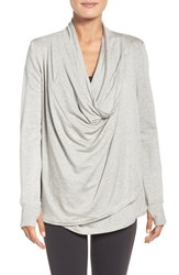 Beyond Yoga Women's Asymmetrical Drape Convertible Cardigan
