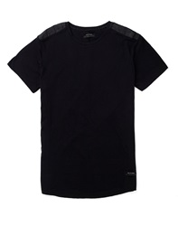 Religion Closed Ll Leather Trim T Shirt