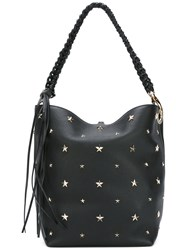 Red Valentino Star Stud Tote Women Calf Leather One Size Black