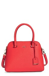 Kate Spade New York Cameron Street Maise Leather Satchel Red Prickly Pear