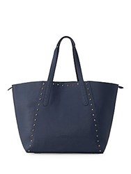 Liebeskind Reversible Textured Leather Tote Blue