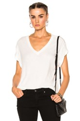 R 13 R13 Rosie V Neck Tee In White