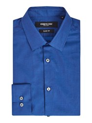 Kenneth Cole Minneapolis Slim Fit Textured Shirt Bright Blue