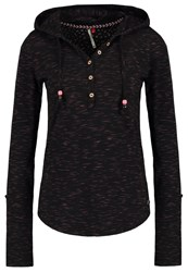 Ragwear Drop Long Sleeved Top Black Mottled Black