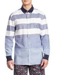 Hilfiger Edition Striped And Checkered Shirt White Blue