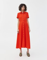Rachel Comey Axil Button Front Dress Electric Red