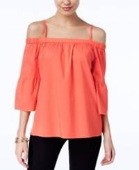 Inc International Concepts Off The Shoulder Top Only At Macy's Rose Coral