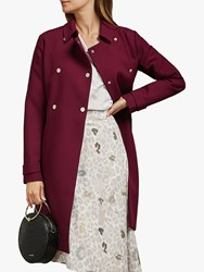 Ted Baker Beauy Double Breasted Trench Coat Bordeaux Red