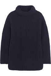 Alexander Mcqueen Ribbed Wool And Cashmere Blend Sweater