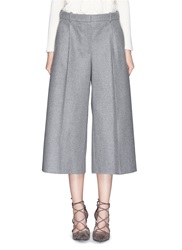 Alexander Mcqueen Wool Cashmere Flannel Culotte Pants Grey