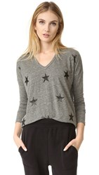 Sundry Stars V Neck Shirt Heather Army