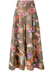 Peter Pilotto Floral Palazzo Trousers Green