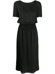 Theory Fitted Midi Dress Black
