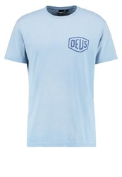 Deus Ex Machina Milan Print Tshirt Sky Blue Light Blue