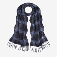 Bally 'S Wool Cashmere Scarf In Multi Blue Navy Multicolor