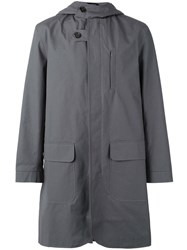 Oliver Spencer Sleaford Hooded Parka Grey