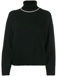 Semicouture Relaxed Fit Turtleneck Jumper Black