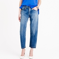 J.Crew Chimala Cropped Japanese Selvedge Jean In Used Light Wash