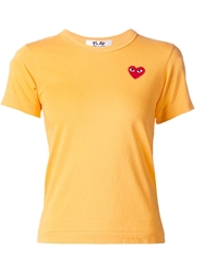 Comme Des Garcons Play Heart Print T Shirt Yellow And Orange