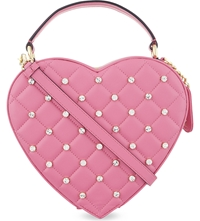 Moschino Leather Heart Shaped Bag Pink